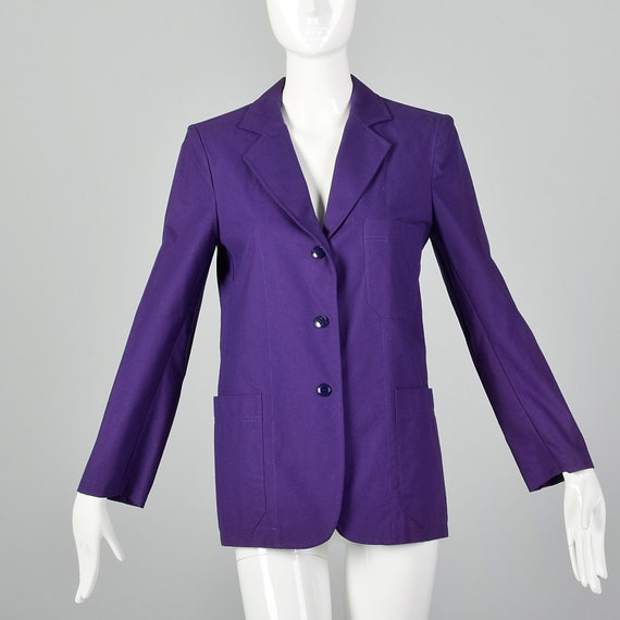 Medium 1980s Cacharel Purple Blazer Vintage Women'
