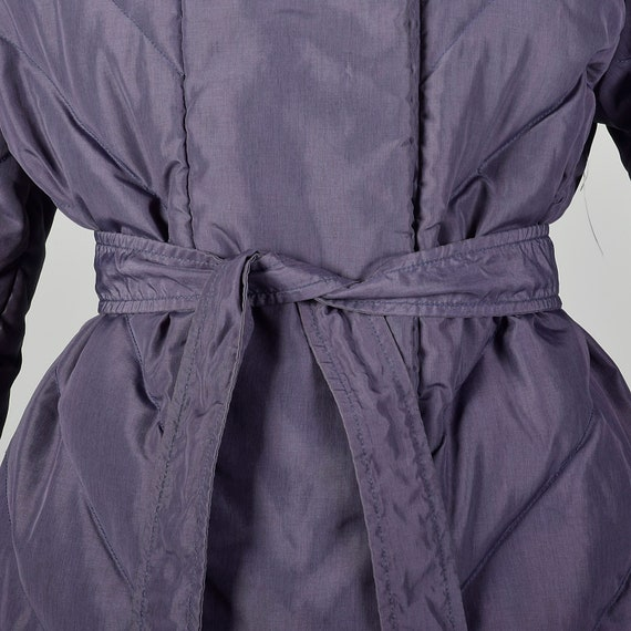 Medium Bill Blass Coat Quilted Purple Puffer Cozy… - image 5