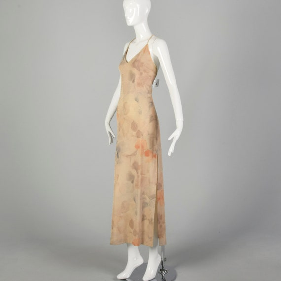 XS 1990s Prom Dress Sparkly Evening Dress Spaghet… - image 3
