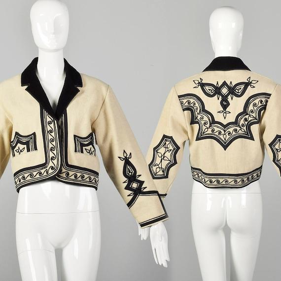 Small Bolero Jacket Bohemian Wool Coat Ethnic Crea