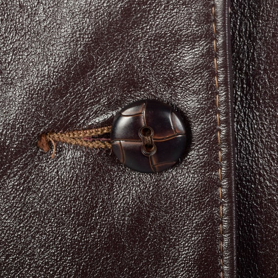 Medium Brown Leather Jacket 1970s Western Blazer … - image 9