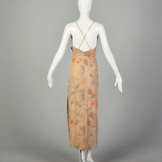 XS 1990s Prom Dress Sparkly Evening Dress Spaghet… - image 2