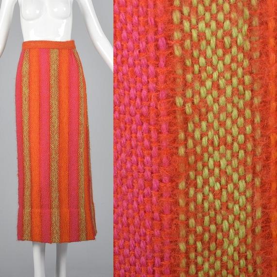 Medium 1970s Tweed Maxi Skirt 70s Hippie Maxi Skir
