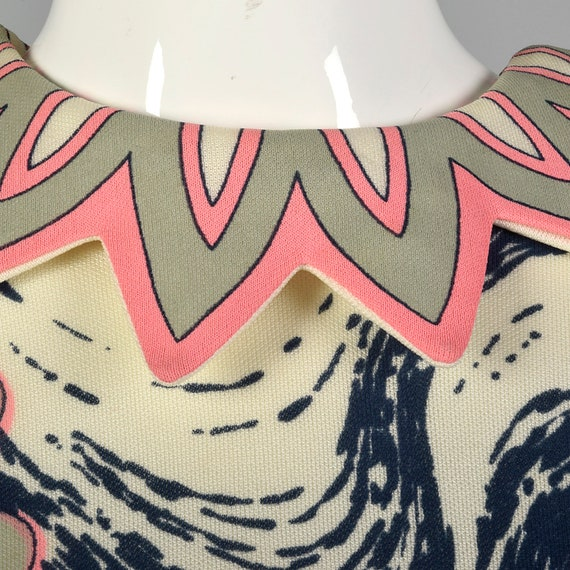 Large 1970s Tunic Top Vintage Print Blouse Sleeve… - image 7