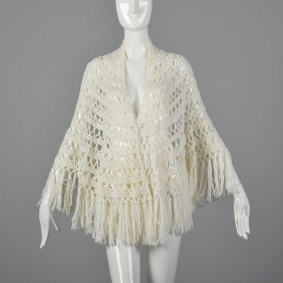 Vintage  70s Hand Loomed Pure Wool Poncho with Fringe ~ Boho Hippie Cozy Drape Wrap ~ Artisan Cape