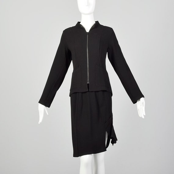 Small Babette Black Skirt Set Matching Knit Jacket