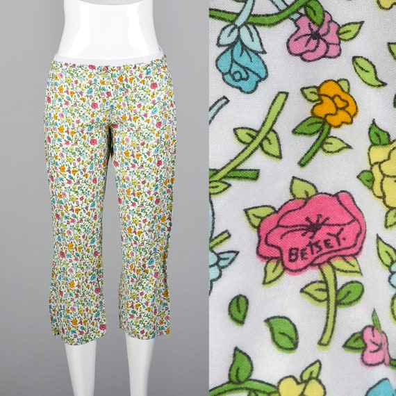 90s Betsey Johnson PJ Pants Signature Print Floral
