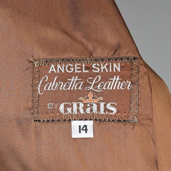 Medium Brown Leather Jacket 1970s Western Blazer … - image 10