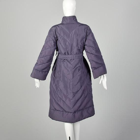 Medium Bill Blass Coat Quilted Purple Puffer Cozy… - image 2
