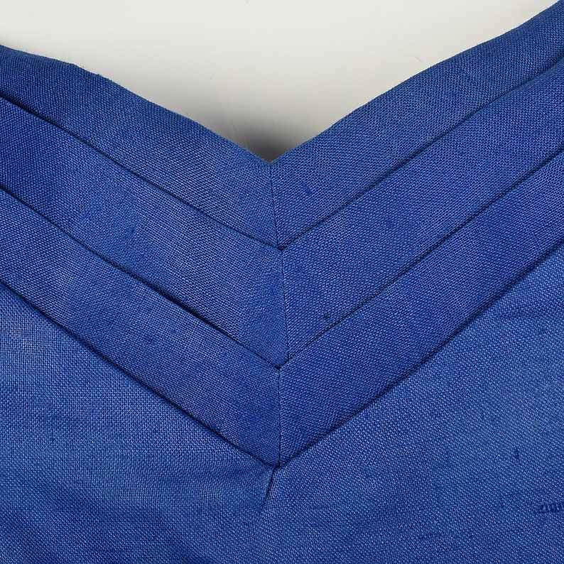 Large Blue Skirt Suit 1980s Three Piece Set Pencil Skirt Top Jacket Blazer Rhinestones Padded Shoulders