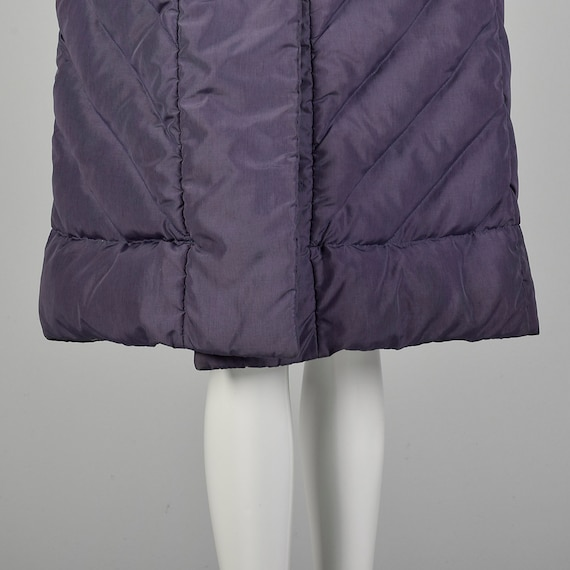 Medium Bill Blass Coat Quilted Purple Puffer Cozy… - image 6