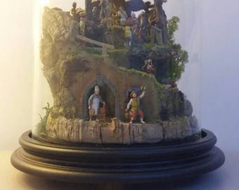 Nativity in Glass Bell