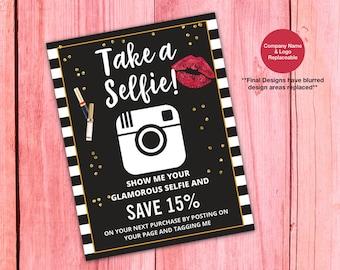 LipSense Selfie Card, LipSense Take a Selfie Card, LipSense Flyer, What is LipSense, Printable, Digital