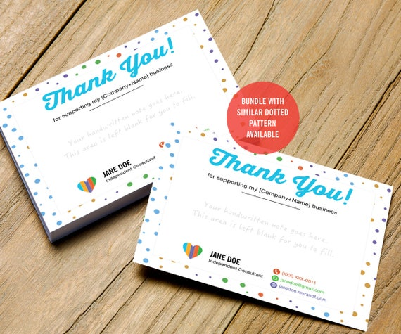 Rodan And Fields Thank You Card Free Personalized Rodan Etsy