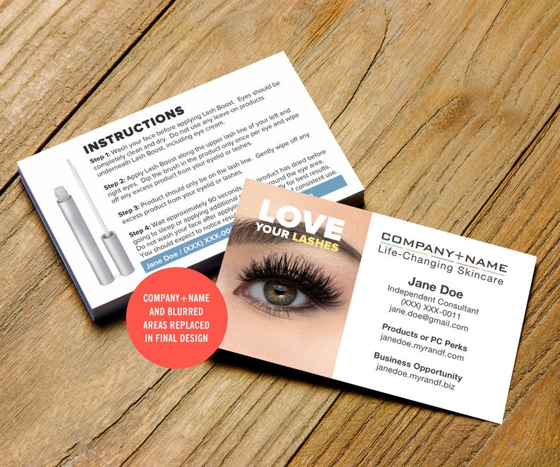 7c438766fc4 Rodan and Fields Business Cards Lash Boost Card Digital | Etsy