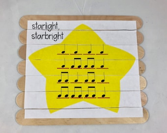 puzzle, wooden puzzle, picture puzzle, educational puzzle, music education, Starlight Starbright