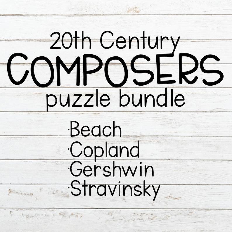 Composer puzzle for music teachers, wooden puzzle, music puzzle, Late  Romantic composers bundle