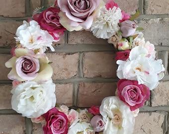 Large floral decorative wreath