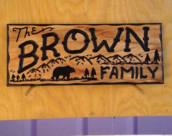 8x24 Custom Carved and Painted Sign