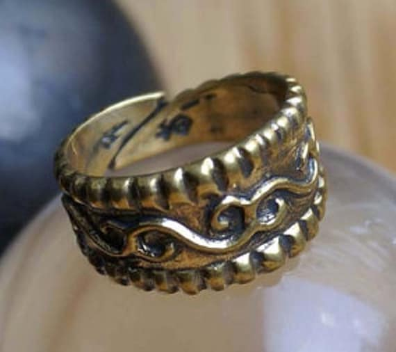 Medieval ring Ring with floral ornaments Ring for women Replica rings Russia 11-12 centuries