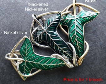 Lorien leaf elven brooch Fellowship of the Ring Barette Pin for scarf or shawl sweater clip brooch wedding accessory