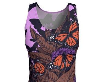 Monarch Butterfly Tank Top - Butterfly Tank, Yoga Top, Tank Top, Butterflies, Monarch, Butterfly, Printed Tank, Monarch Butterflies