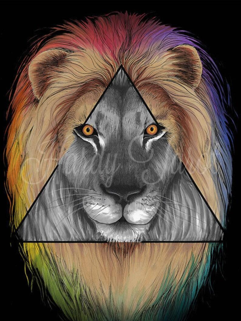 этом лев в треугольнике картинки этой