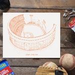 Shea Stadium - New York Mets - Stipple Art Print - Stipple Drawing - Baseball Art - New York Mets Art - New York Mets Print