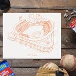 Citi Field - New York Mets - Stipple Art Print - Stipple Drawing - Baseball Art - New York Mets Art - New York Mets Print