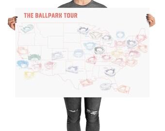 Baseball stadiums | Etsy