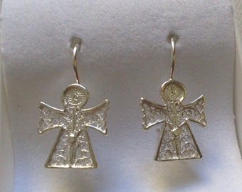 Angel Earrings Portuguese Silver | Portuguese filigree | Made in Portugal