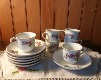 Vintage Child's Tea Cups and Saucers