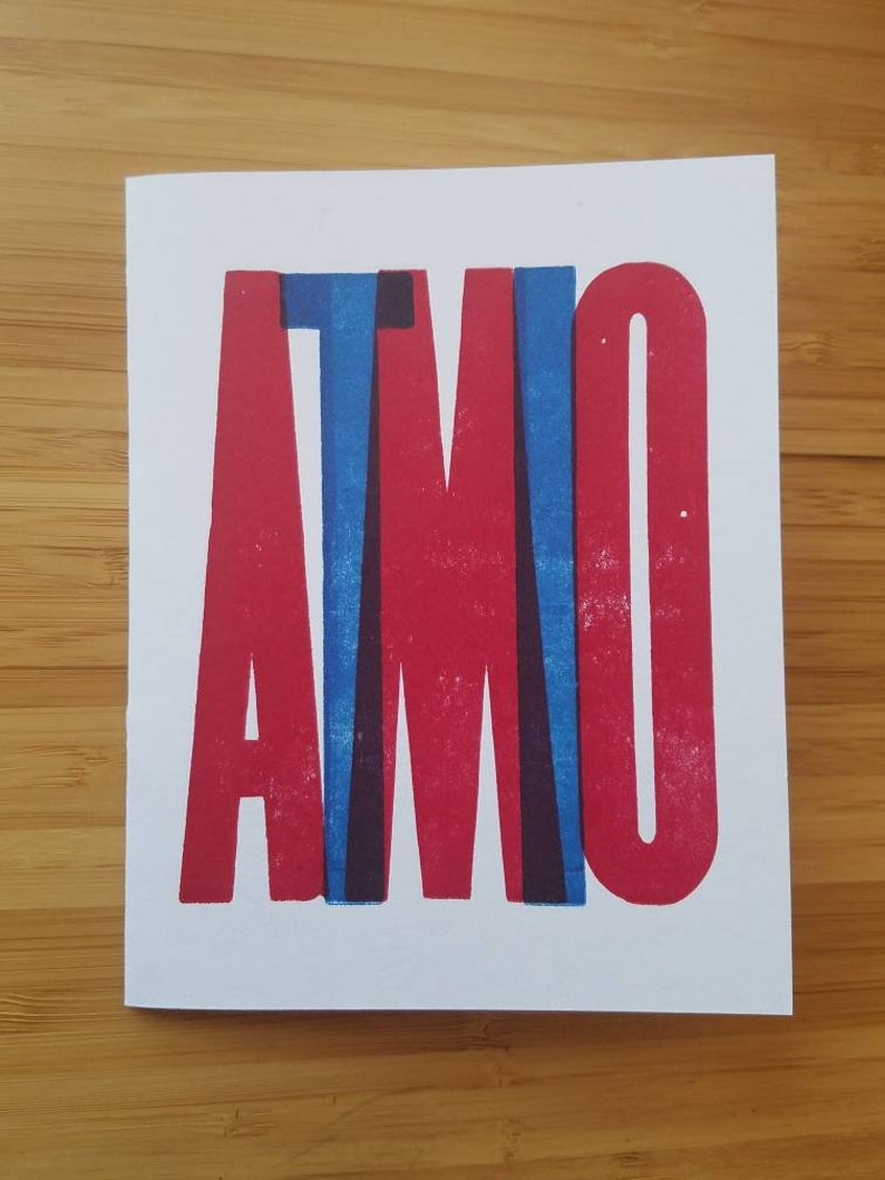 Ti Amo: Letterpress Italian Love Card image 0
