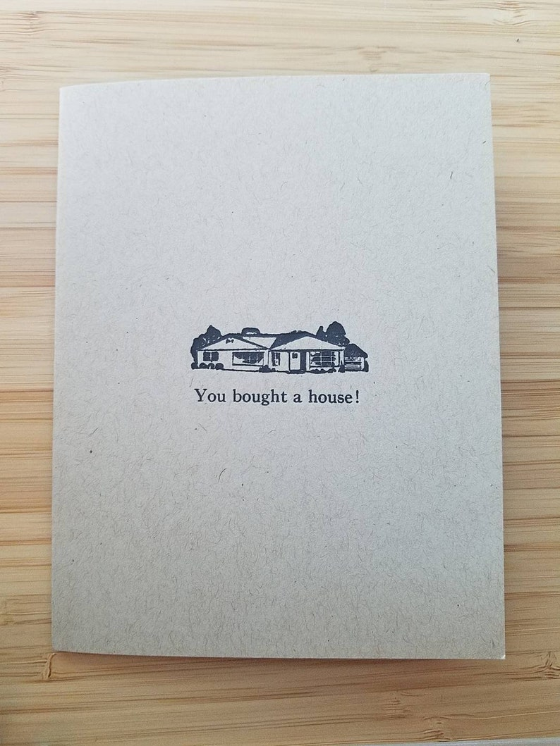 You Bought A House Letterpress new home cards image 0
