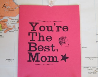 You're The Best, Mom Mother's Day Letterpress Card