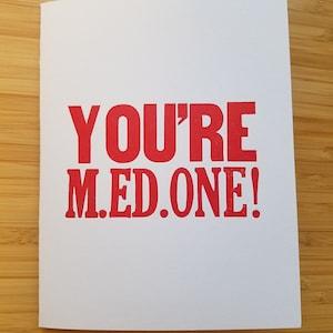 Letterpress Graduation card Way to go Grad!