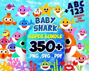 Printable baby shark | Etsy