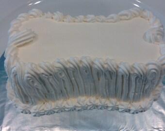 Personalized Dog Birthday Cake (Bone Shape)