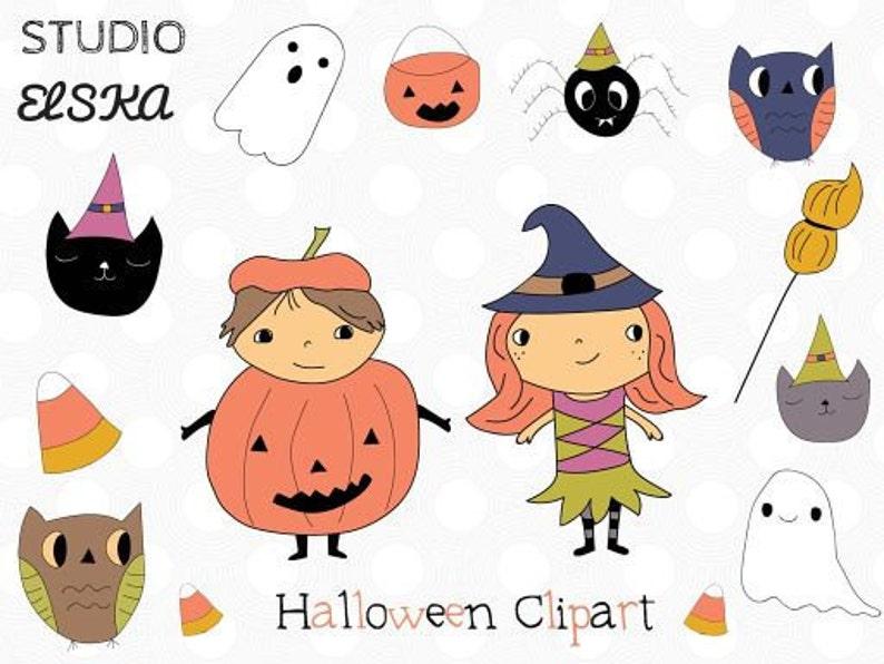 Halloween Clipart Halloween planner clipart Witch Clipart cute owl clipart