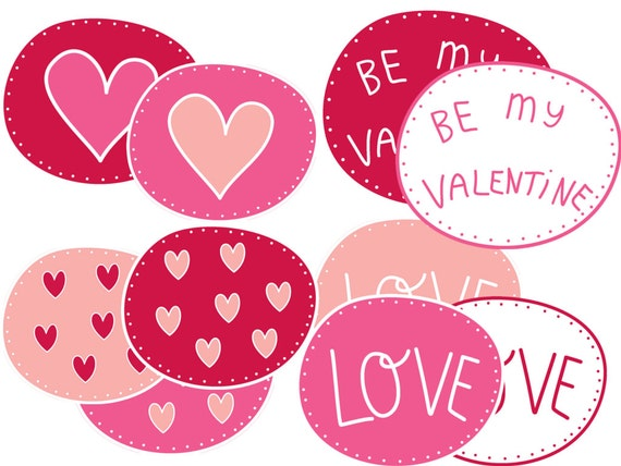 Valentine S Day Clipart White Outlines Etsy