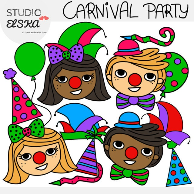Karneval Fastnacht Karneval Fasching Party Clipart Etsy