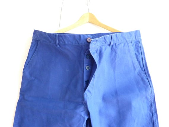 Vintage French chore work pants, carpenter trouser