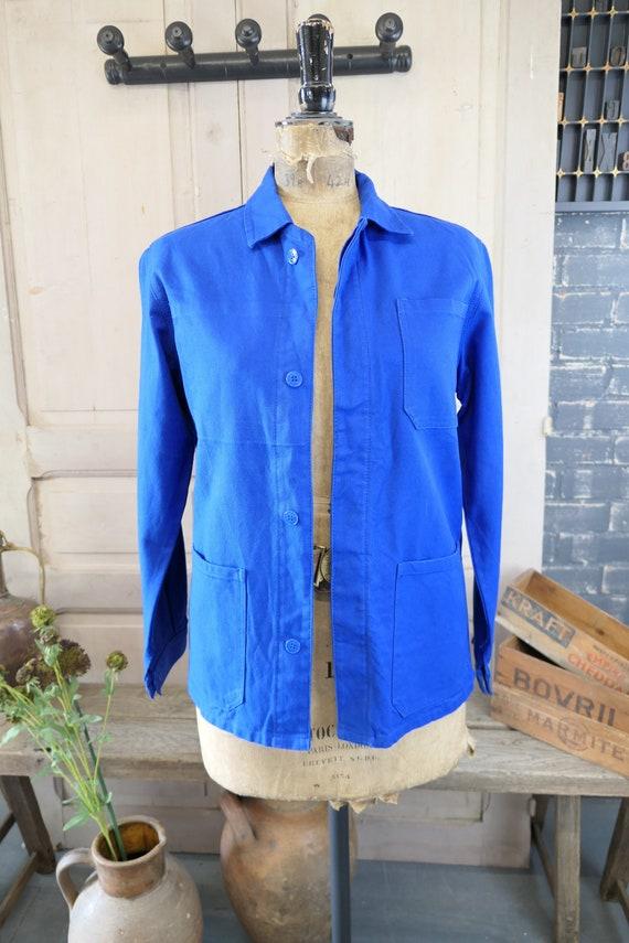 Vintage Franse Blauw Sanforised Karwei Jas Vintage Etsy