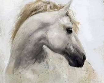 Horse digital painting art print, A5 and A4 Wall art decor for horse lovers