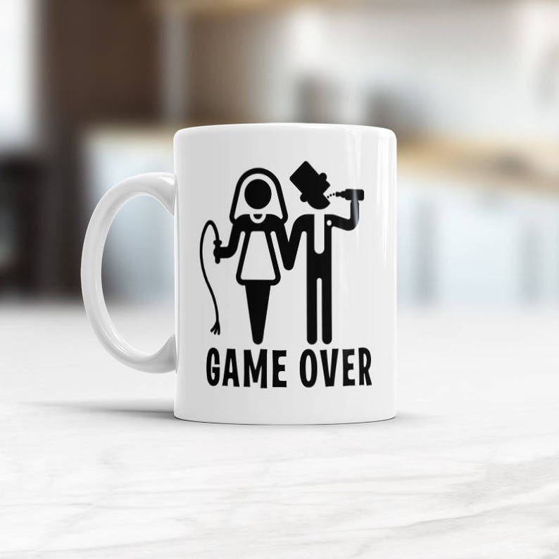Funny Wedding Gifts.Funny Wedding Gift Mug Game Over Gift For Bride Coffee Mug Marriage Gifts For Brides To Be