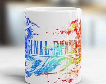 Fantasy  Mug, Watercolor Art Cup, Coffee Mug Gamer Gift, children's gift, aquarelle, fantasy mug, game mug, coffee mug