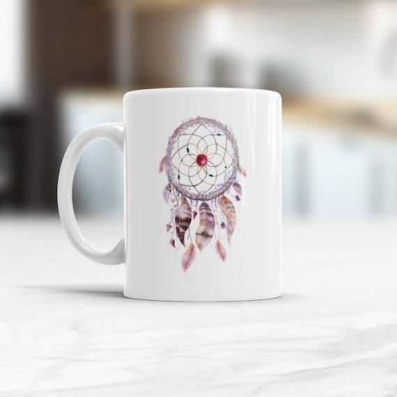 Native American Coffee Cup Bohemian Decor Boho Dreamcatcher Etsy