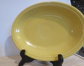 Vintage Fiesta Oval Platter Sunflowers Yellow 11X9 quot HLC U.S.A.
