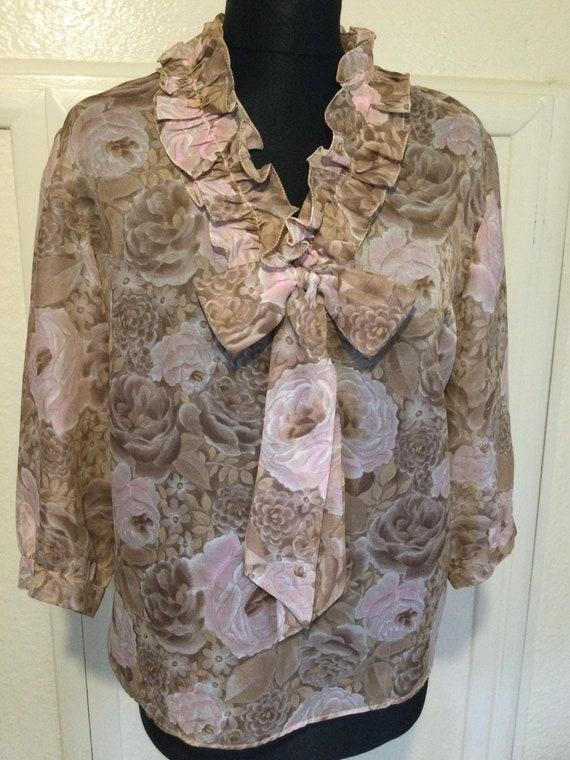 Vintage chiffon blouse
