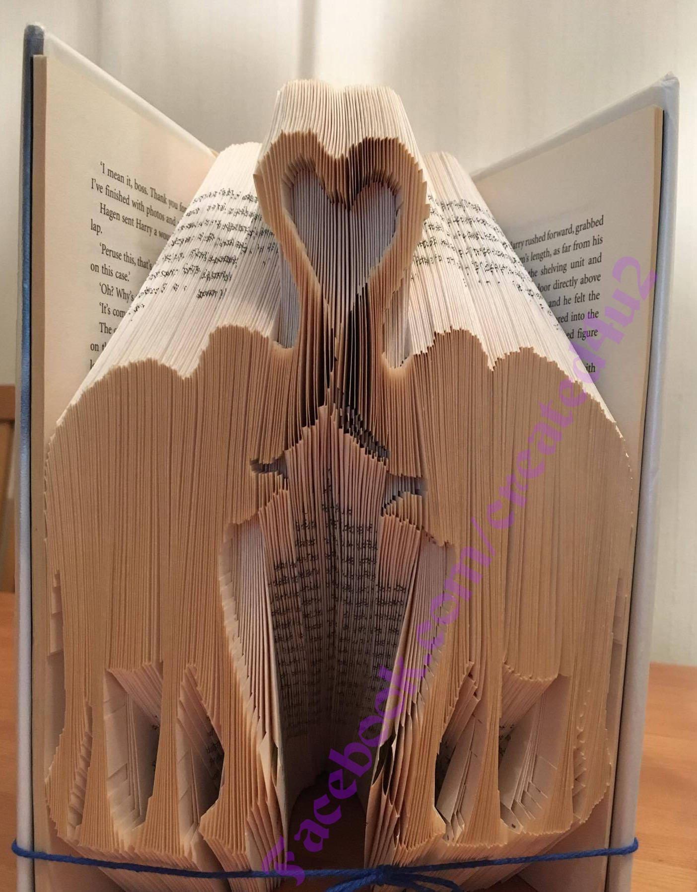 bi Cut & Fold Book Folding Pattern Unique Gift ELEPAHNTS